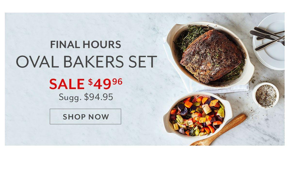 Emile Henry Oval Bakers, Set of 2