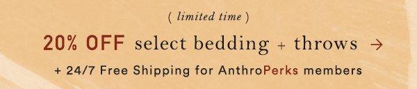 Shop extra 20% off bedding.