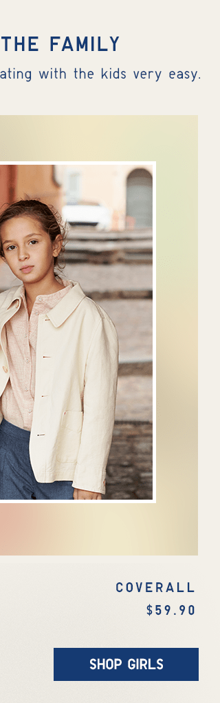 COVERALL $19.90 - SHOP GIRLS