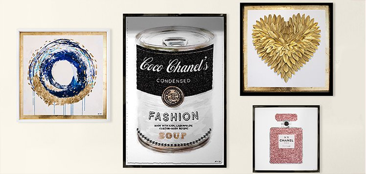The Oliver Gal Artist Co. & More Metallic Art