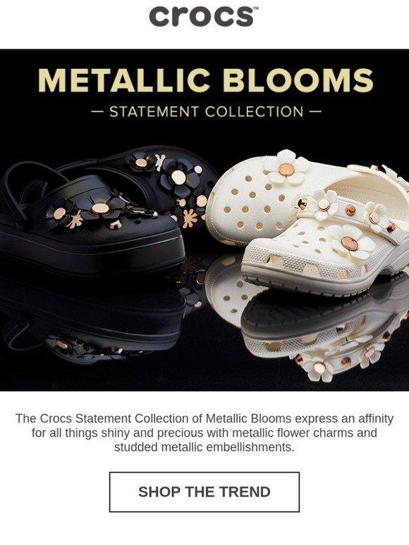 crocband platform metallic blooms clog