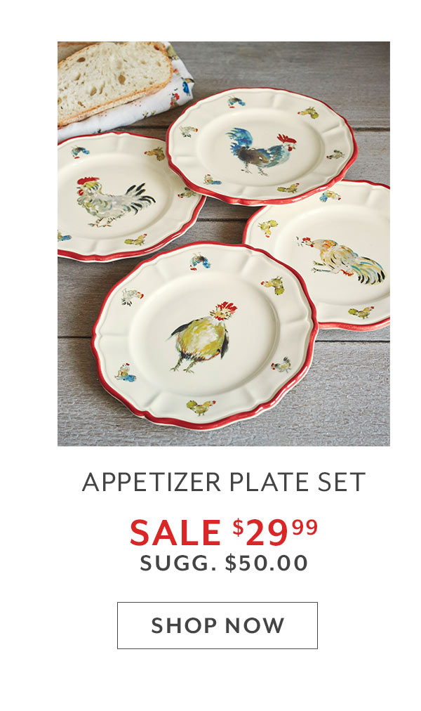Chickens Appetizer Plates