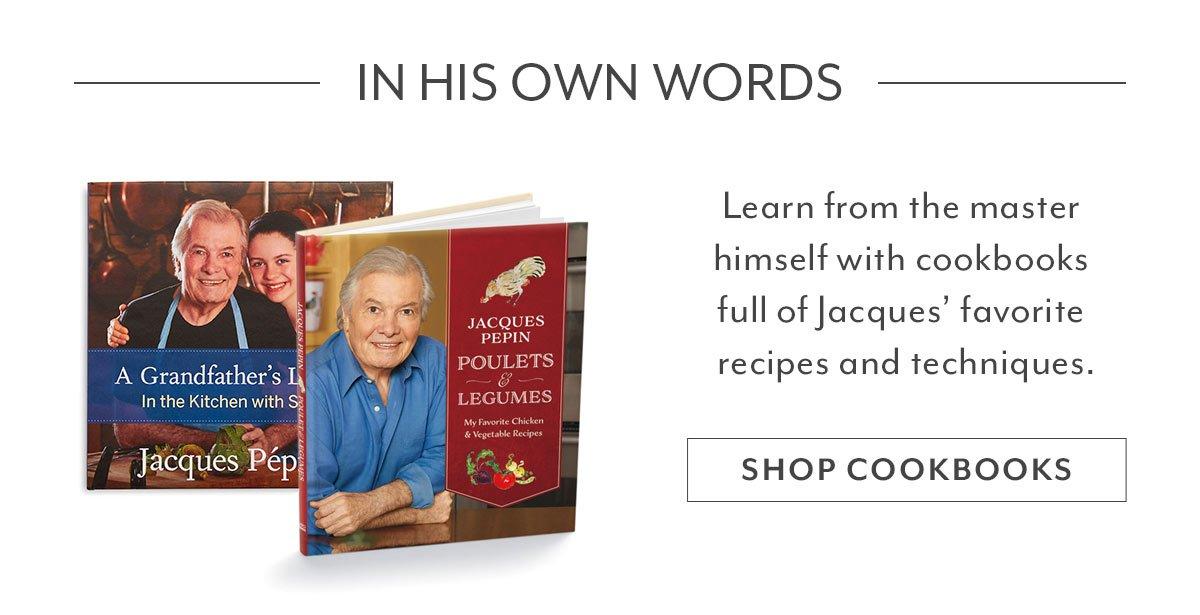 Jacques Pepin Cookbooks