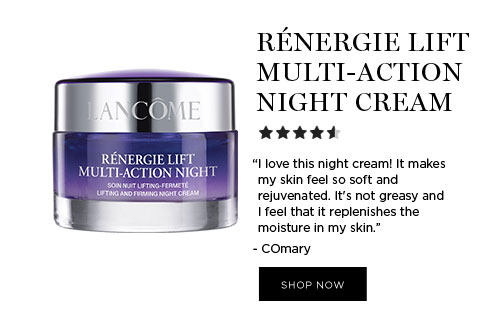 "RÉNERGIE LIFT MULTI-ACTION NIGHT CREAM - ""I love this night cream! It makes my skin feel so soft and rejuvenated. It's not greasy and I feel that it replenishes the moisture in my skin."" - COmary - SHOP NOW"