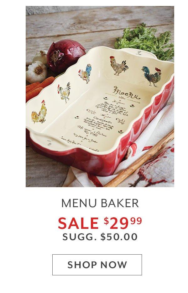 Menu Baker