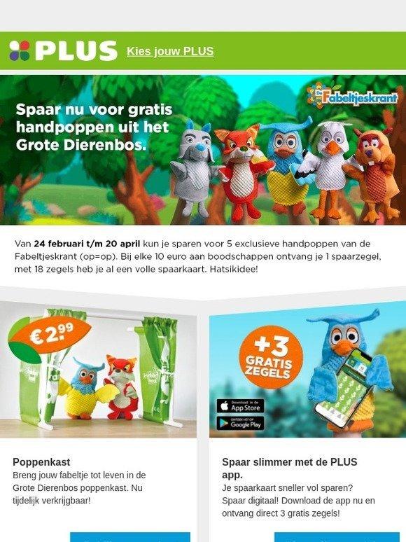 b793c3e3b36da7 PLUS Retail B.V.  Spaar vanaf zondag voor gratis handpoppen van de  Fabeltjeskrant!