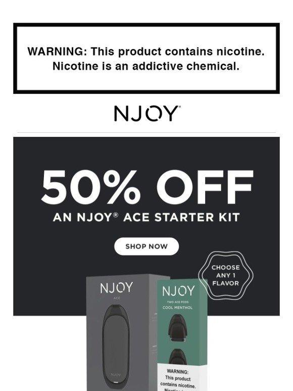 njoy com: Take 50% Off an ACE Starter Kit | Milled