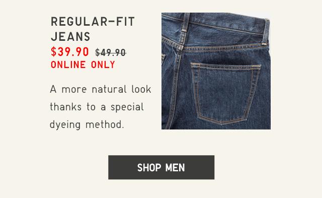 REGULAR-FIT JEANS $39.90 - SHOP MEN