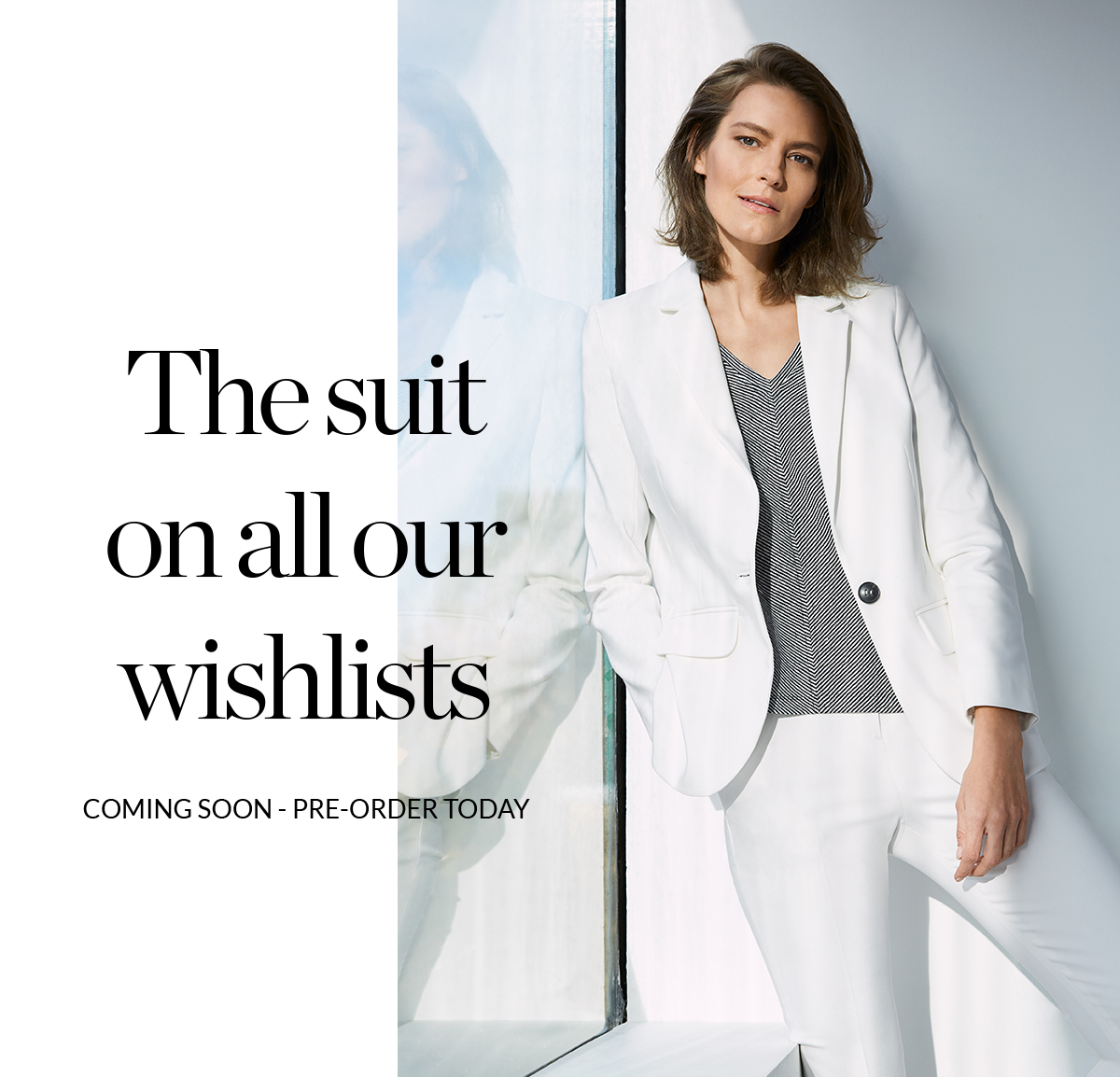 The suit on all our wishlists | Coming Soon - Pre-order Today | Ulrica Suit Trouser £89 | Ulrica Suit Jacket £99