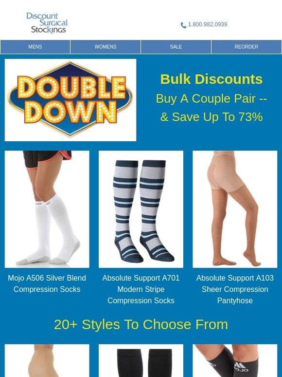 b3e62d5fb4 Discount Surgical Stockings: Double Down On Savings | Milled