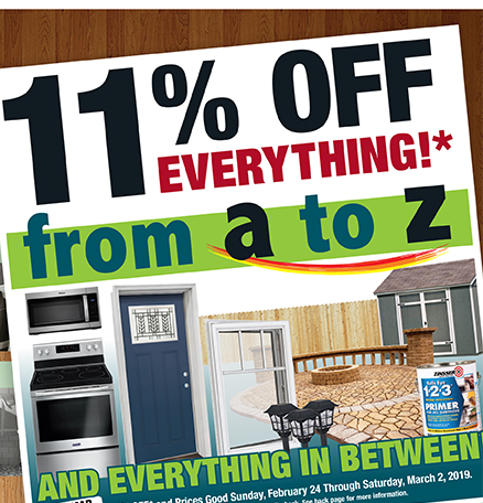 Menards: 11% Off Everything* from A to Z | Milled