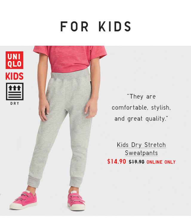 KIDS DRY STRETCH SWEATPANTS $14.90