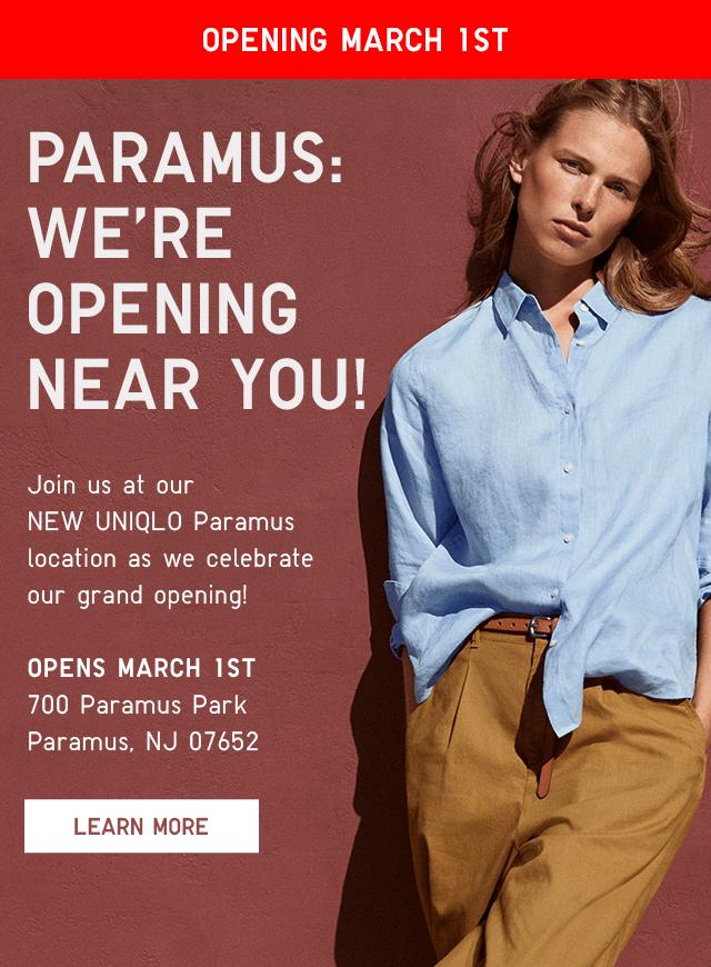 OPENING MARCH 1ST - 700 PARAMUS PARK, PARAMUS, NJ 07652