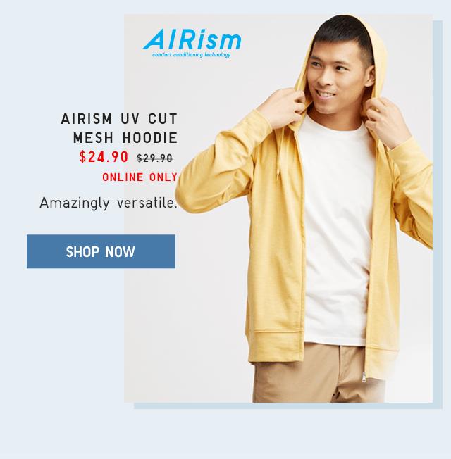 AIRISM UV CUT MESH HOODLE $24.90 - SHOP NOW