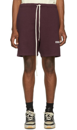 Essentials - Burgundy Fleece Shorts