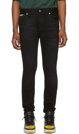 Essentials - Black Skinny Taper Jeans