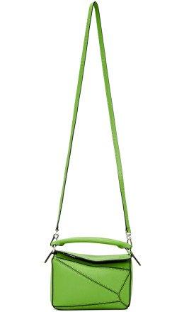 Loewe - Green Mini Puzzle Bag