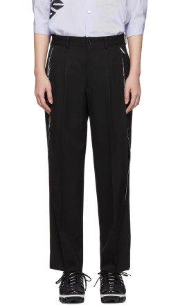 Comme des Garçons - Black Wool Side Slit Trousers