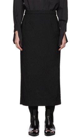 Comme des Garçons - Black Crinkled Serge Pencil Skirt