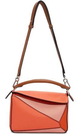 Loewe - Orange & Pink Small Puzzle Bag