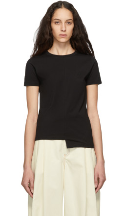 Loewe - Black Asymmetric Anagram T-Shirt