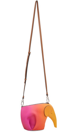 Loewe - Pink & Orange Spray Mini Elephant Bag