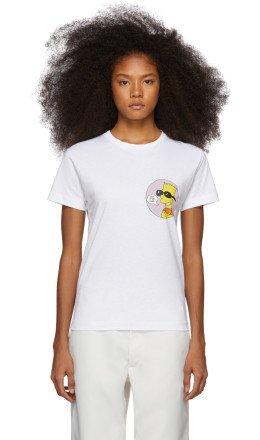 Off-White - White Bart 'Public Enemy' Skinny T-Shirt