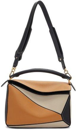 Loewe - Brown & Black Puzzle Bag