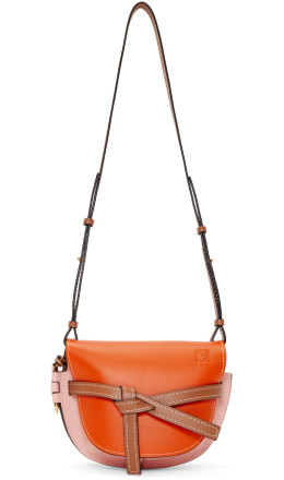 Loewe - Brown & Orange Small Gate Bag
