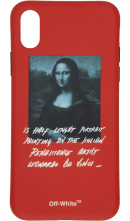 Off-White - Red Monalisa iPhone X Case