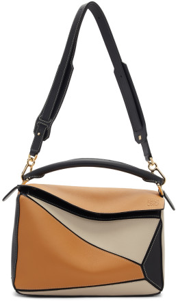 Loewe - Brown & Black Puzzle Bag