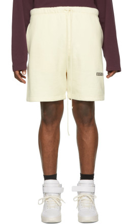 Essentials - Off-White Fleece Shorts
