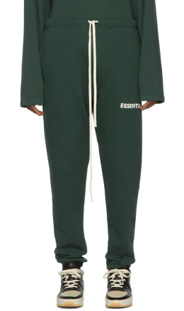 Essentials - Green Fleece Sweatpants