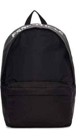 Essentials - Black Logo Backpack