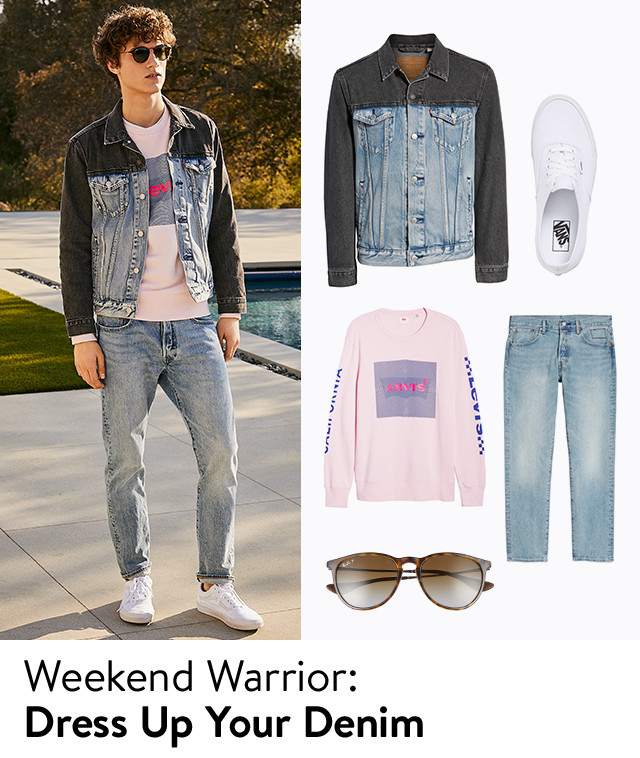 Weekend warrior: dress up your downtime.