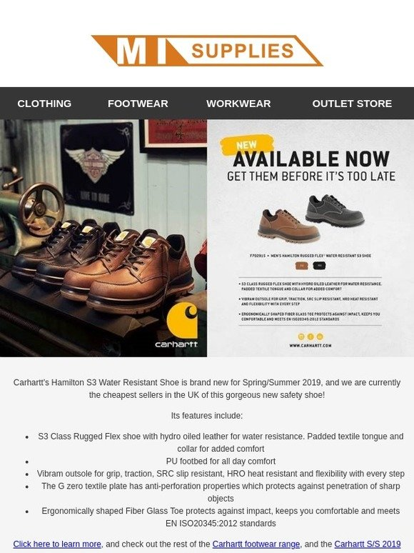 d7d92918c98a MI Supplies  Cheapest Price in the UK - Brand New Carhartt Shoe