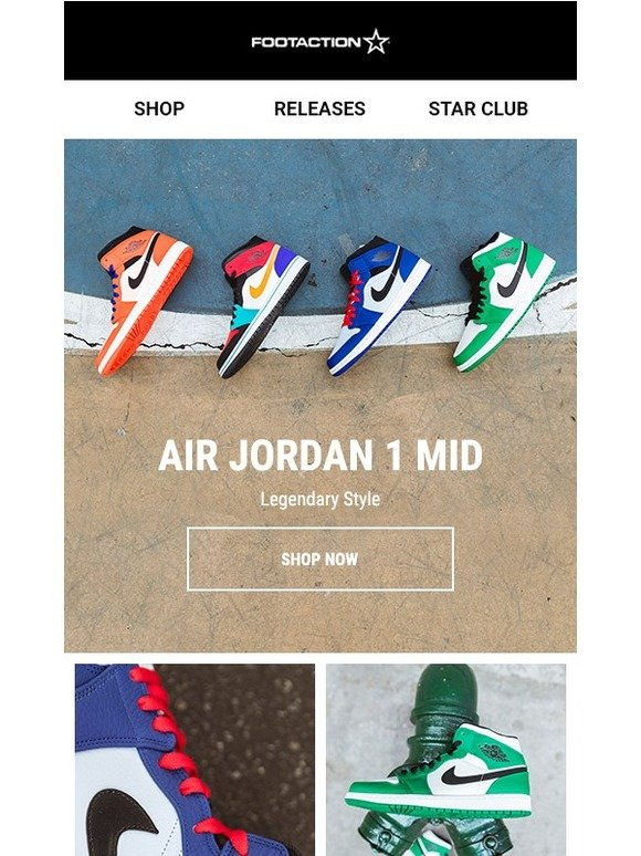 f676f7781850 Footaction   We ve got Air Jordan 1 Mids in every flavor!