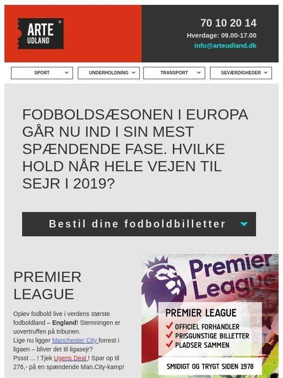 59674a8ab25 ARTE Udland: Fodbold i Europa – spændende topkampe! | Ugens deal:  Manchester City | Milled