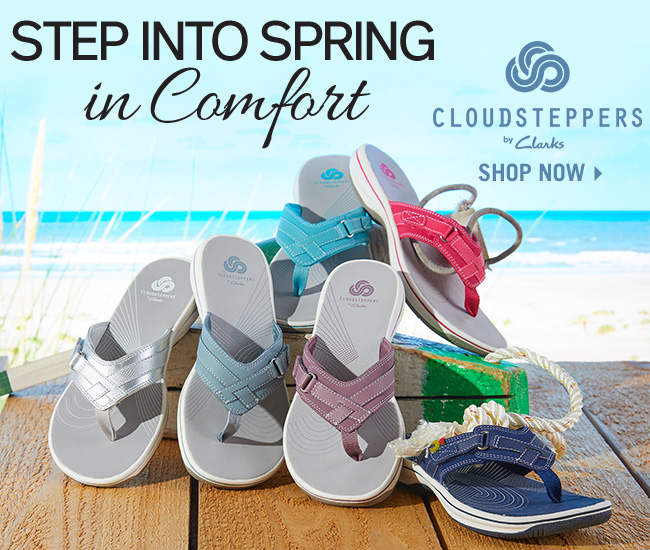 d936cec8c935 Step Into Spring in Comfort - Shop Cloudsteppers by Clarks Breeze Sea