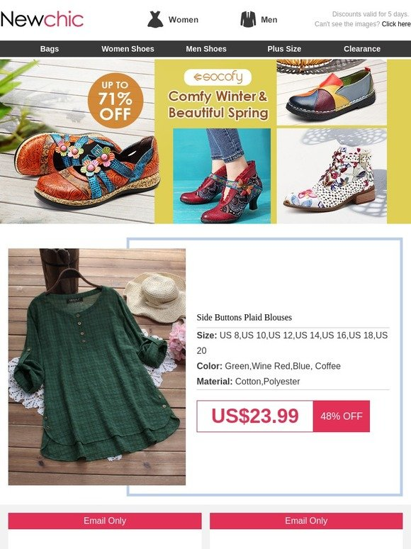 c04455b3b6eb Newchic Company Limited: [Spring shoes up to 70%off] Get your fresh spring  look within $20! | Milled