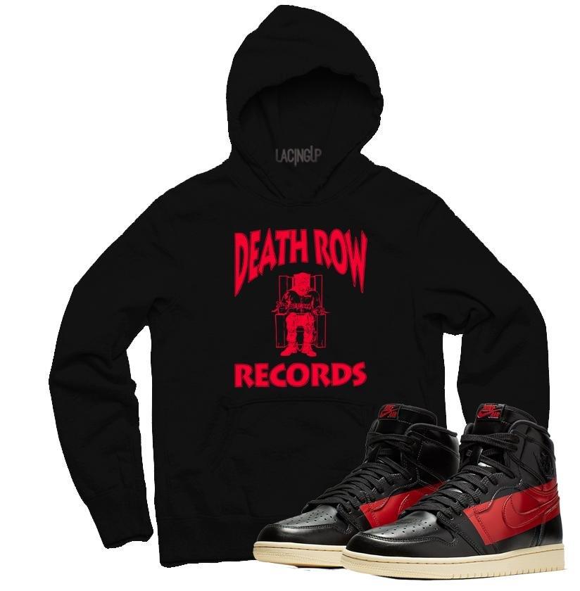 435892dc9d67a4 Jordan 1 couture death row black hoodie-Lacing Up