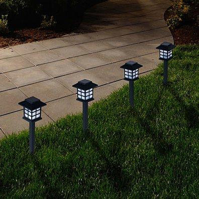 Pure Garden Outdoor Lantern Solar Landscaping Lights - Set of 6