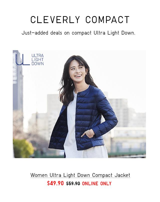 WOMEN ULTRA LIGHT DOWN COMPACT JACKET $49.90