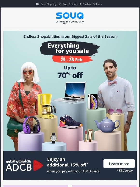 Souq: Everything For You Sale ends today 🛍️ | Milled