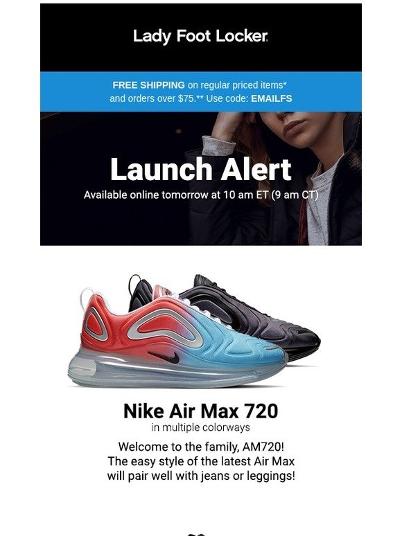 a05e6122d004 Lady Foot Locker  New release  Nike Air Max 720 and adidas Sleek—available  2.28