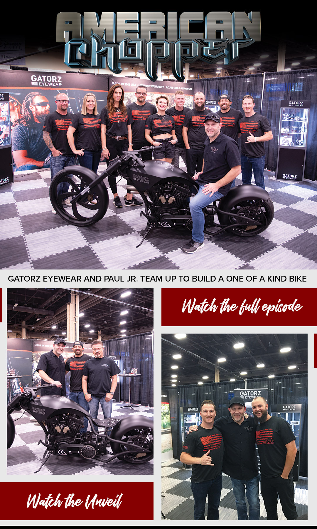 b2de9e50ea8f We're thrilled to announce our partnership with Paul Jr. and his team at American  Chopper. They built a custom Gatorz motorcycle, and it completely blew us  ...