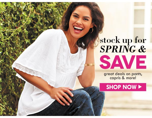 Stock up for spring and save