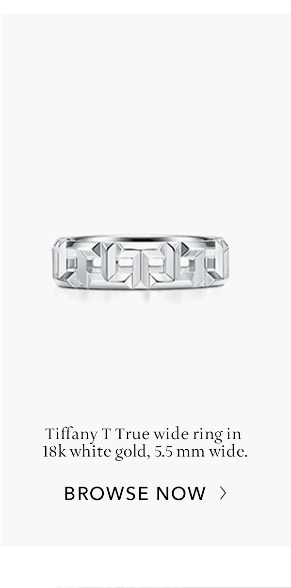Browse Now: White Gold Tiffany T True Wide Ring