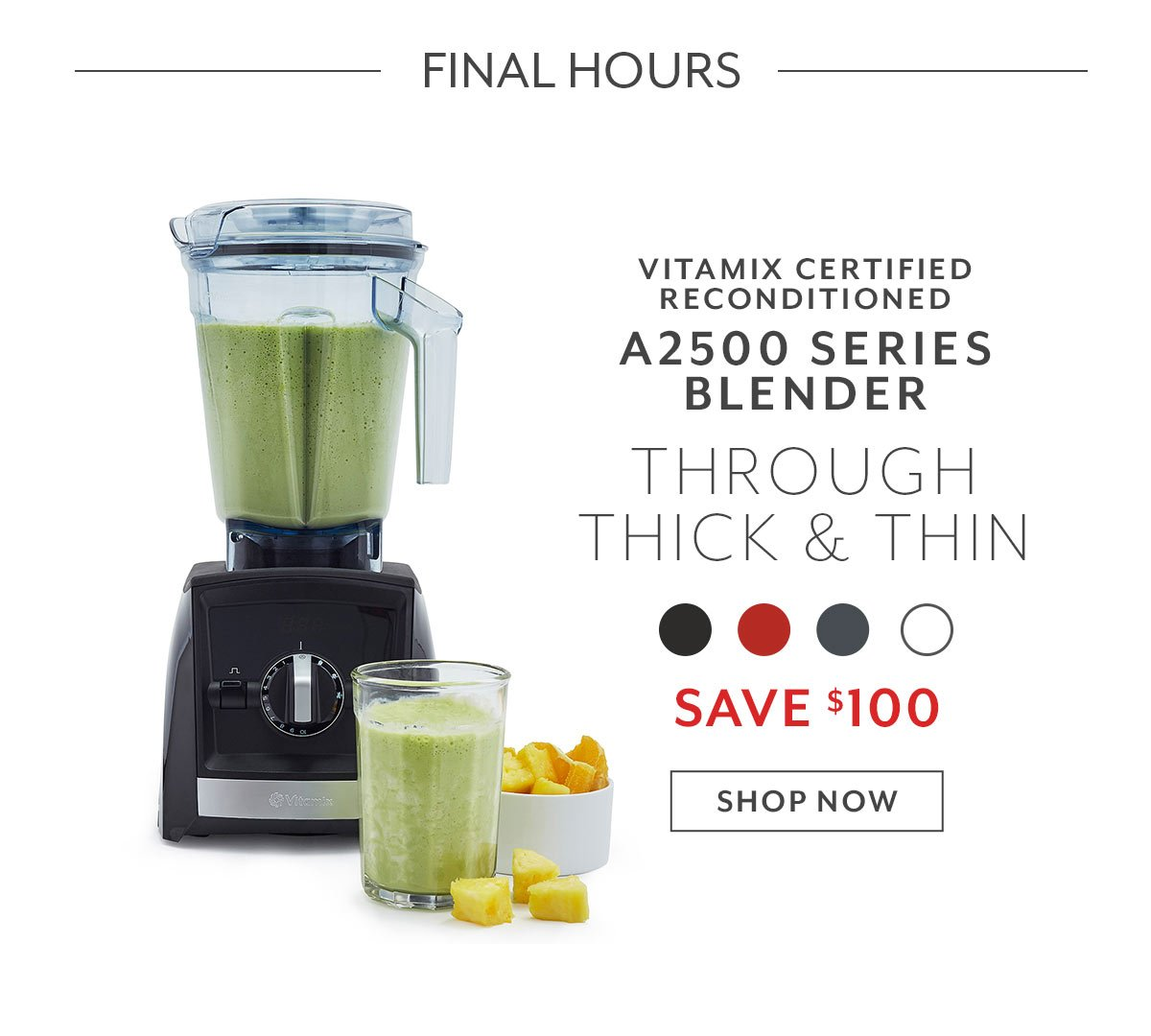 Vitamix Certified Reconditioned A2500 Series Blender