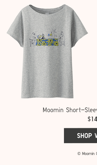 MOOMIN SHORT-SLEEVE GRAPHIC T-SHIRTS $14.90 - SHOP WOMEN